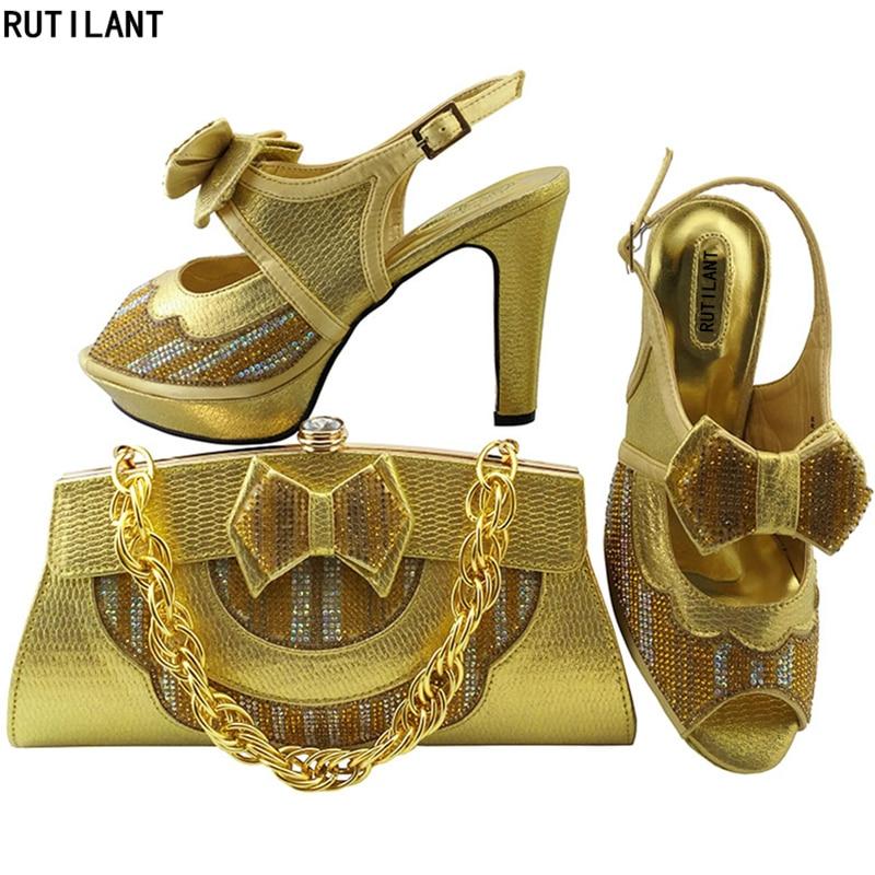 water D gold Blue Für Neueste Und Tasche königliches Afrikanischen Italien Schuhe Frauen Strass rot Mit Ba Blau peach Verziert Party Green Royal Passenden rosa Set wqwHaU