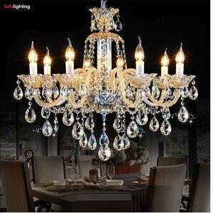 Image 3 - Chandelier Lighting Modern crystal lights Export K9 Crystal Chandelier Candle chandeliers crystal Villa living room chandelier