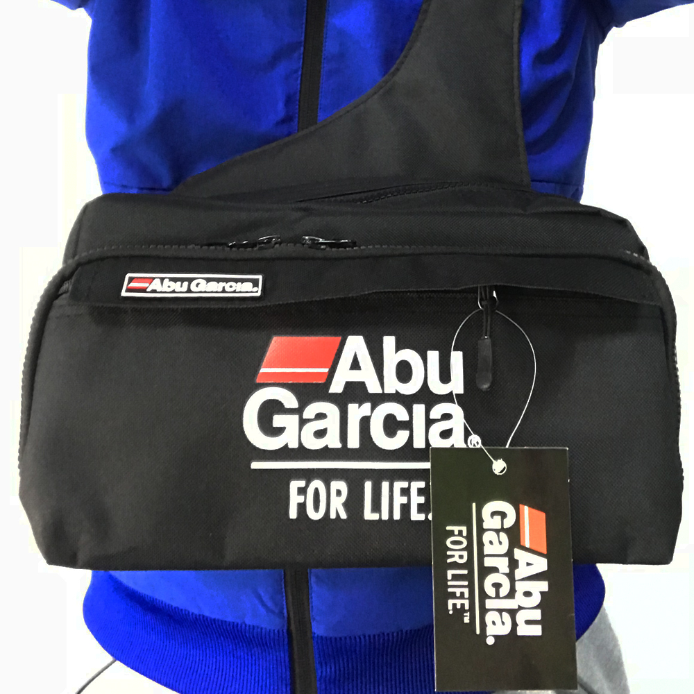 Abu Garcia Single String Multipurpose Cloth Bag//Reel Pouch Large Size Black