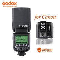 Godox TT685C 2.4G Speedlite+X1C TTL Flash Trigger Wireless Transmitter Lamp for Canon EOS 70D 60D 5D II 6D 7D 650D 700D Camera