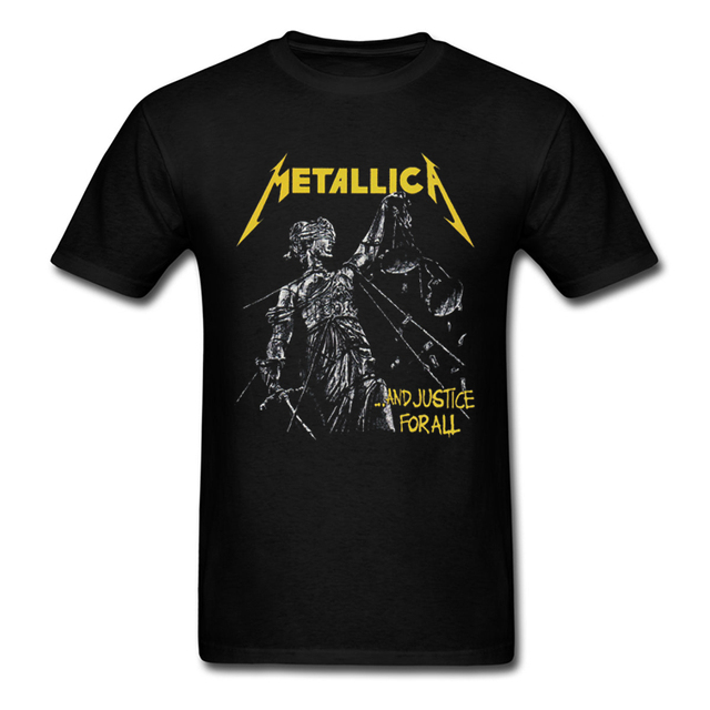 b9e325a905 US $22.98 |Metallica And Justice For All Men's T Shirt New Fashion Heavy  Metal Music Band 100% Cotton Top Tee Summer Adult T shirts S 3XL-in  T-Shirts ...
