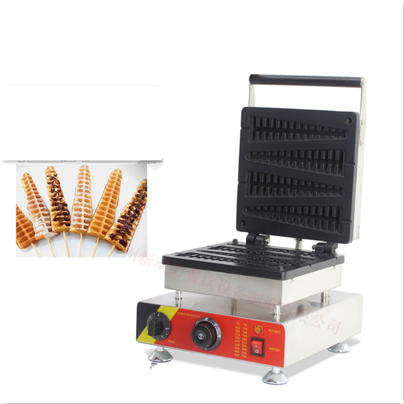 110V 220V Non-stick Commercial Electic Lolly Waffle Maker 4pcs Belgium Belgian Lolly Waffle Machine Iron Baker free shipping 6pcs commercial nonstick 110v 220v electric digital 22cm lolly waffle dog on a stick machine maker iron baker