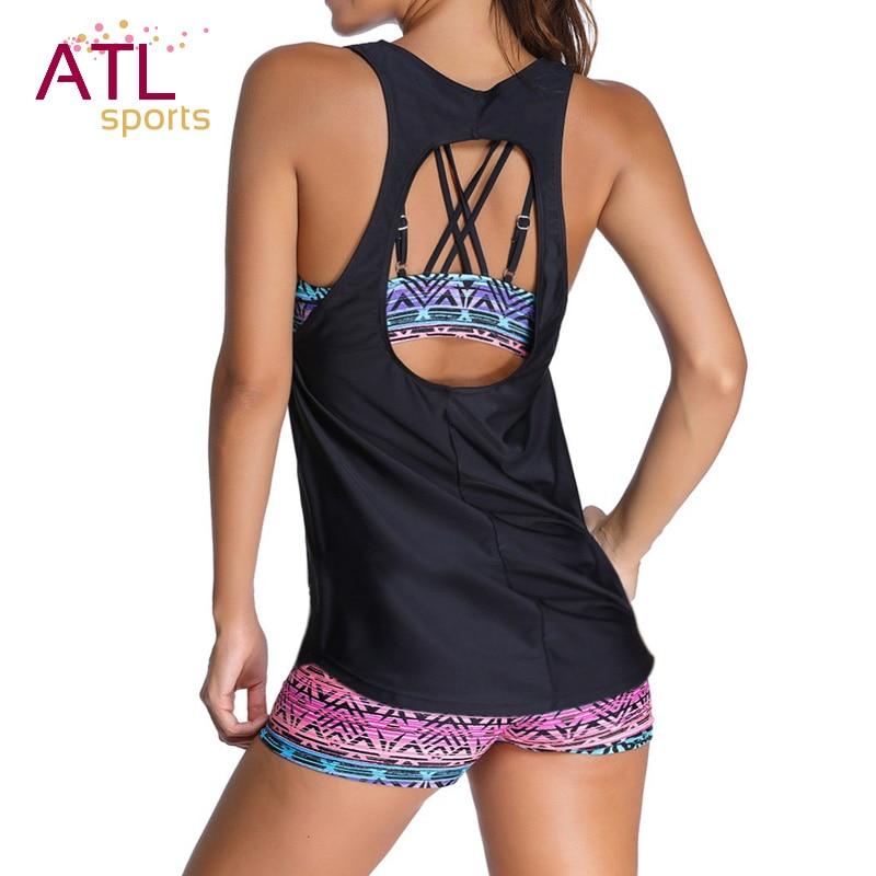 Tankini Two Piece Swimsuit Female Bikinis Women 2018 Swimwear Women Plus Size Push Up Bathing Suit Maio Beach Mayo Bathers 2