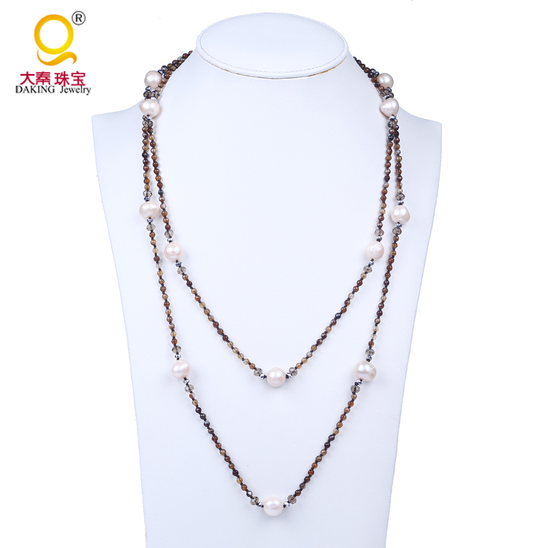 H3-01 7x6 mm douces perles Brin Blanc h3-01