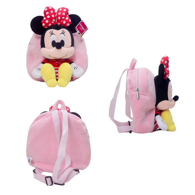 aabadf92be6 Disney Origina Backpack Schoolbag Winnie The Pooh Mickey Mouse Minnie Doll  Lilo and Stitch 27cm Cute Girl Children Boy Schoolbag-in Stuffed   Plush  Animals ...