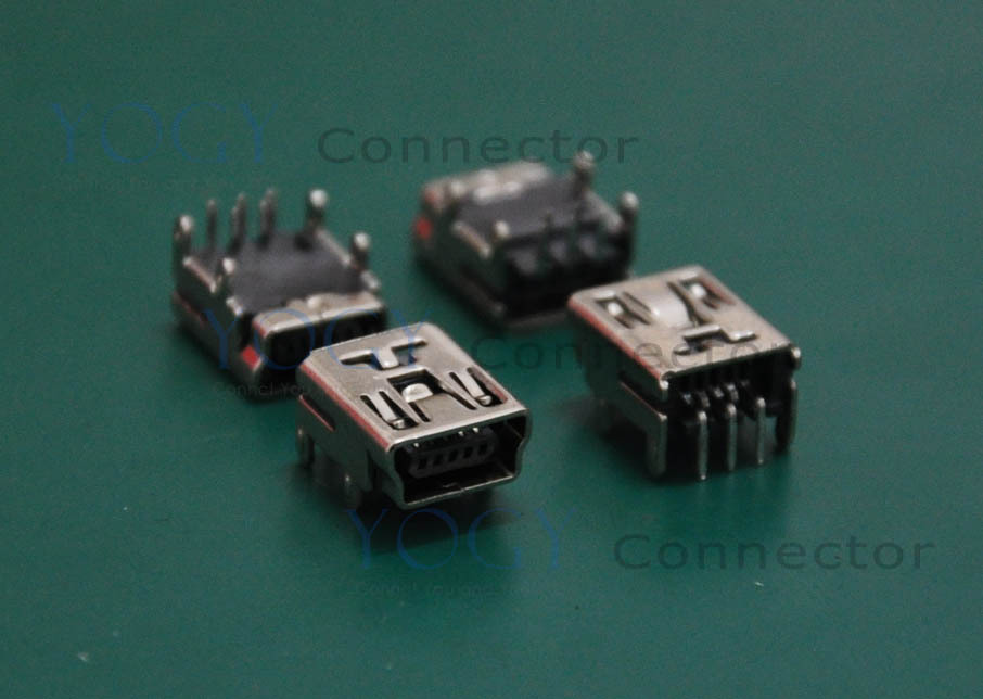 (30 pcs/lot) MINI USB Female Connector Receptacle, DIP 4 Fixed feet,Commonly used in Mobile Power Interface