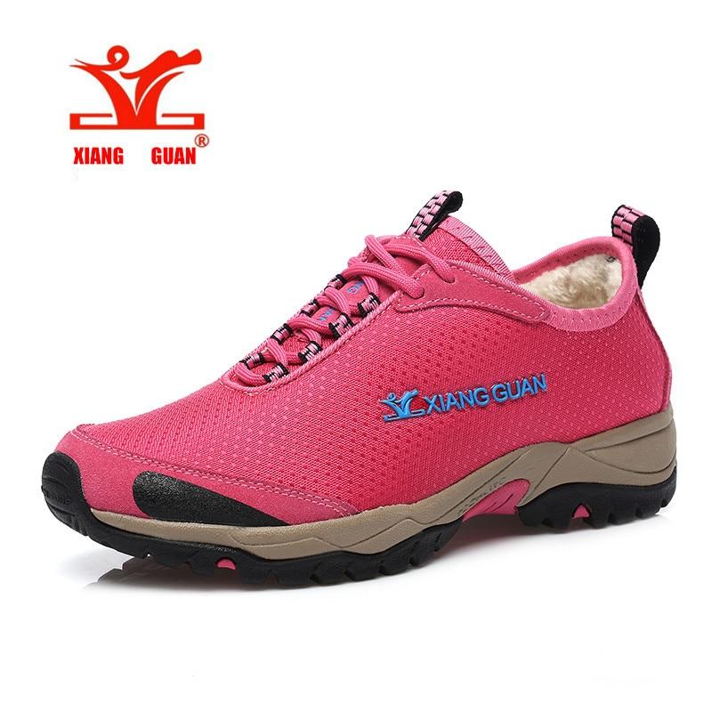 Original New Women hiking shoes outdoor climbing Winter warm Waterproof Lining fluff Water repellent font b
