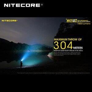 Image 4 - Multitask hibrid serisi Nitecore MH25GTS XHP35 HD LED yüksek performanslı çift yakıt 1800 lümen taktik el feneri pil