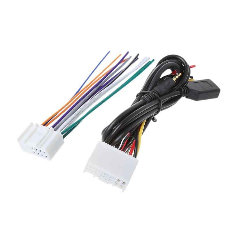 Nuevo 1 Set Auto CD de Audio estéreo arnés de cableado adaptador con USB/AUX (3,5mm) para Hyundai IX35 radio fabricantes OEM (para fabricantes de equipos originales)