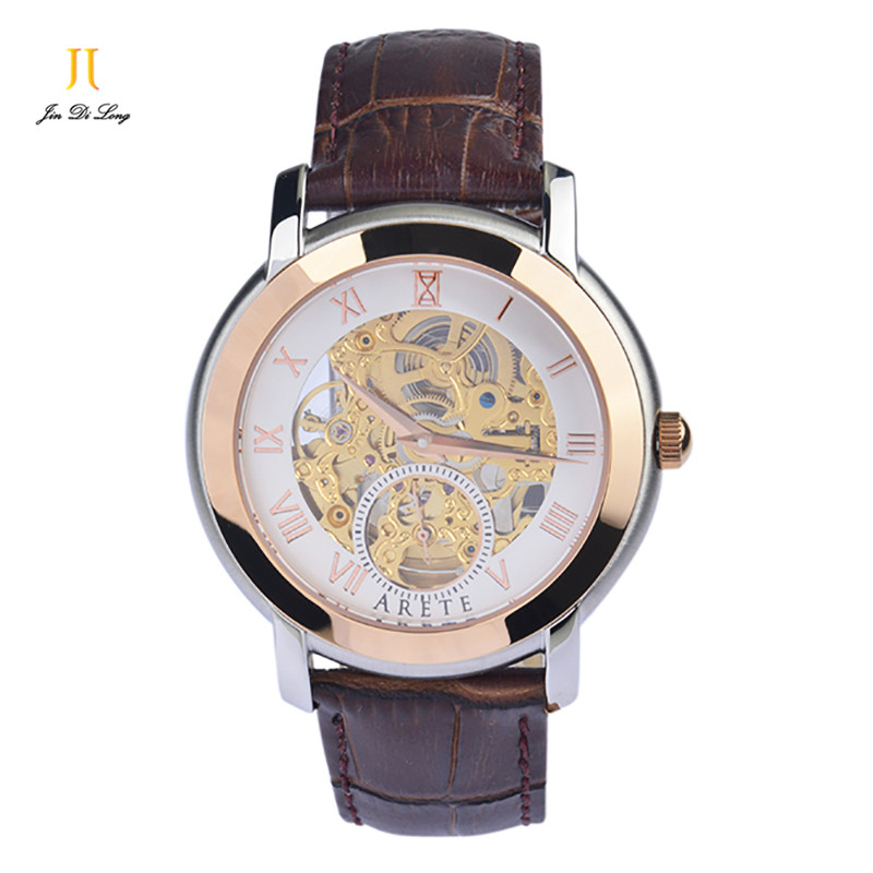 ? Luxury Brand Automatic Mechanical Watch 30M Water Wristwatches Leather Strap Sports Men Automatic Mechanical Watch Gift Hot automatic hot