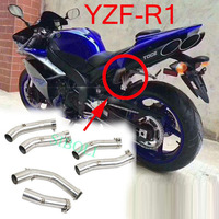 R1 Motorcycle Exhaust Middle Link Modified Pipe For Yamaha YZF R1 2004 2005 2006 2007 2008 2009 2010 2011 2012 2013 2014