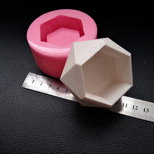 Small Candle Holder Cement Silicone Mold DIY Flowerpot Concr