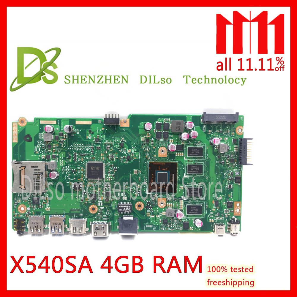 KEFU X540SA REV2.1 fit For ASUS X540SA dual-core CPU Laptop motherboard WITH 4GB MEMORY test motherboard work 100%