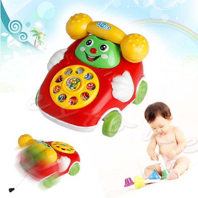 1Pc Baby Toys Music Cartoon Phone Educational Developmental Kids Toy Gift -B01
