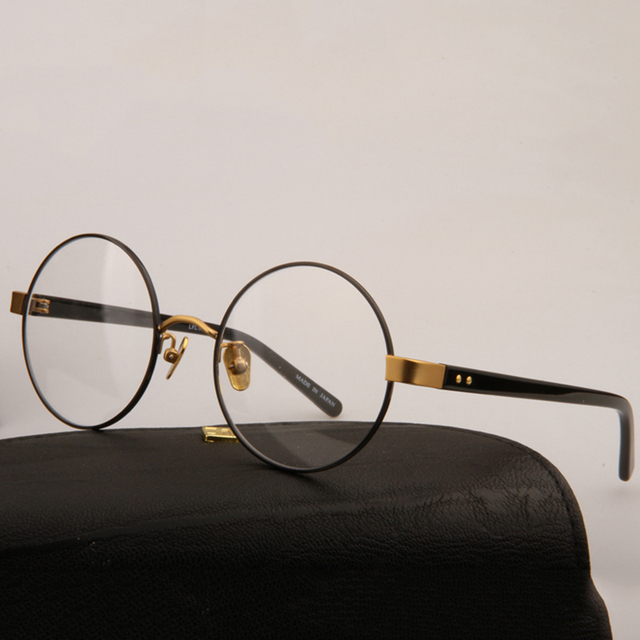 d7edd3426f Vazrobe Vintage Round Glasses Men Women Brand Designer Circle Nerd Points Eyeglasses  Frames Male with Clear Lens Retro Spectacle