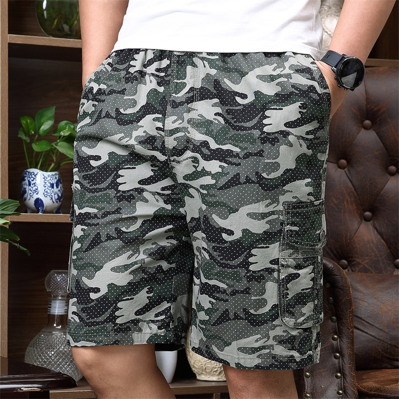 2020 Summer Mens Cargo Shorts Army Military Camouflage Shorts Men Cotton Loose Breathe Plus Size 5XL Homme Casual Short Pants