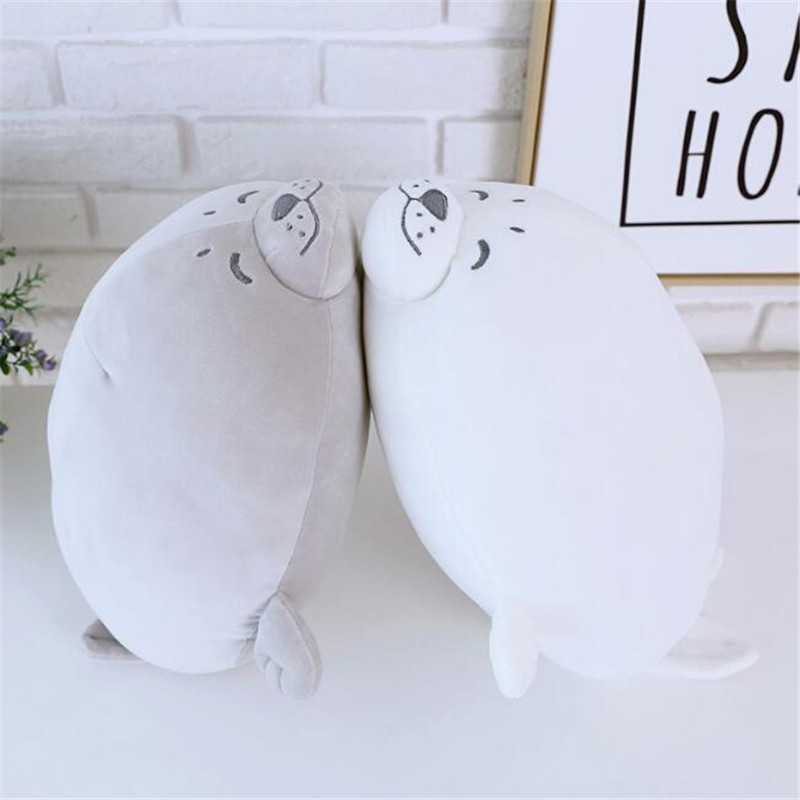 CXZYKING 35cm Soft Kawaii Animal Seal Plush Stuffed Toys For Baby Girls Children Gifts for the New Year Cotton Toy Pillow stuffed animal prone dog plush toy about 85 cm soft doll throw pillow t7790