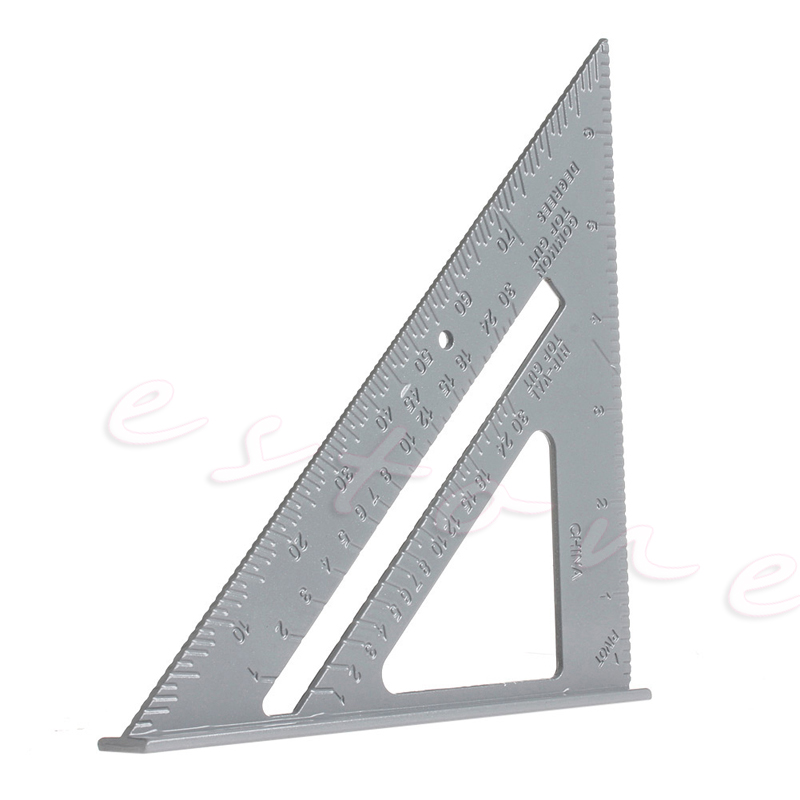 Aluminum Alloy Speed Square Protractor Miter Framing Measurement For Carpenter