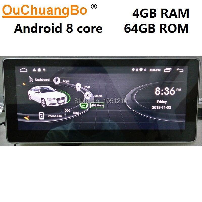 Ouchuangb android 9.0 rádio simples player de áudio para q5 a5 rs4 rs5 a4 b8 sq5 s5 com gps multimídia concerto 8 núcleo 4 gb + 64 gb
