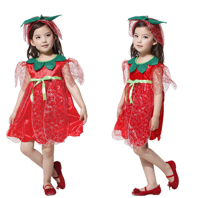 Halloween Princess role play rose Cosplay Flower Fairy Dress Dress princess skirt