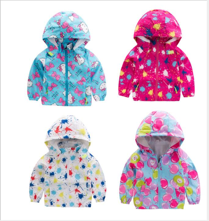 Coat Clothing Thin-Jacket Hooded Cute Print Unisex Cartoon with Zipper Kids Sun-Protection