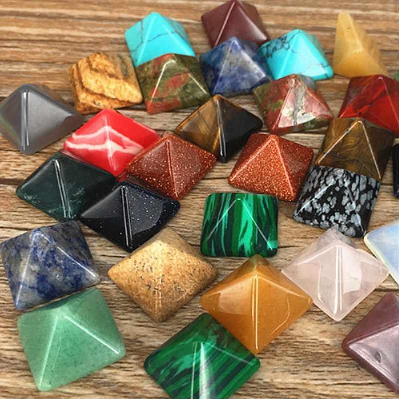 16 نوع البسيطة الكوارتز الكريستال Pyramide حجر شقرا الشفاء الطبيعي الروحانية الريكي حجر ديكور المنزل DIY