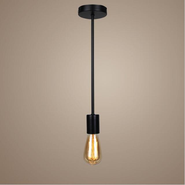 black/white E27 110V/220V socket cord cable pendant light vintage ...