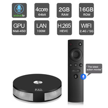 7.1.2 RK3328 R10 Inteligente Caixa de TV Android Quad Core 64 Pouco UHD 4 k 2 gb gb Wi-fi BT4.1 16 HD Media Player w/2.4g Vioce Controle Remoto