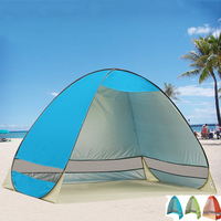 Quick Automatic Opening Beach Tent Sun Shelter UV Protective Tent Shade Lightwight Pop Up Open For