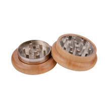 Wooden Herb Grinder 53 MM 2 Parts With Nail Teeth Spice Wood Herb Grinder Handle Tobacco Herb Grinder Weed Accessories косметика herb