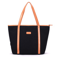 Soft Foldable Tote Top Zipper Large Capacity Women Shopping Bag Bag Lady S Daily Use