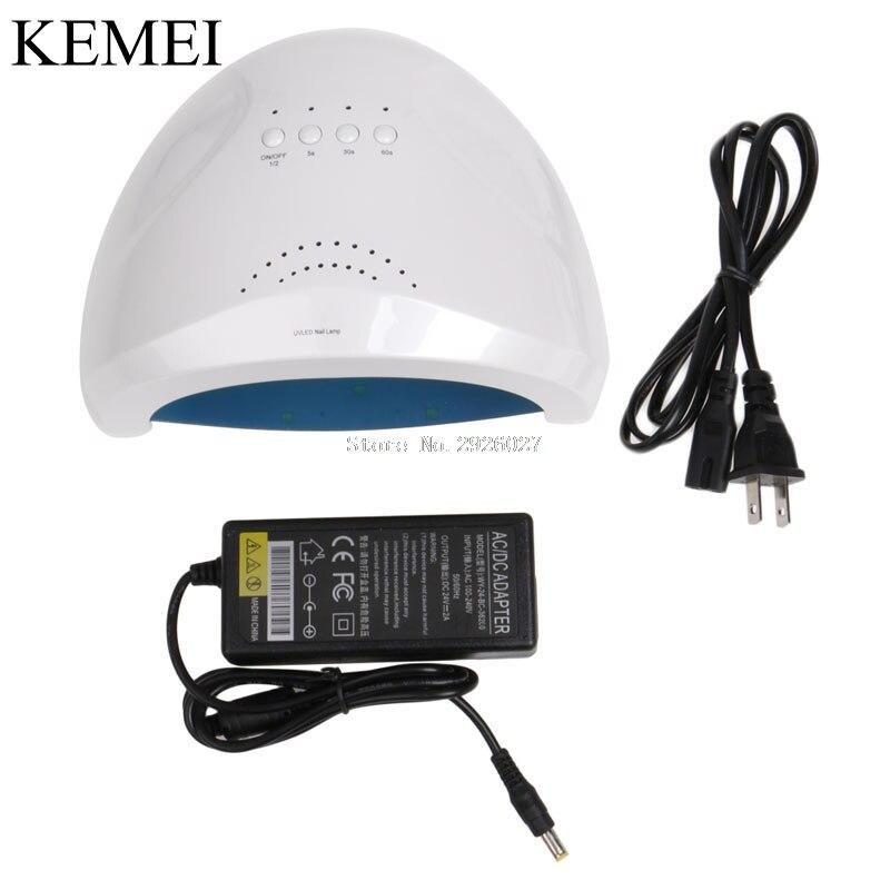 24/48W UV Lamp Nail Polish Dryer LED White Drying Gel Curing Dryer US Plug -B118 24 48w uv lamp nail polish dryer led white drying gel curing dryer us plug