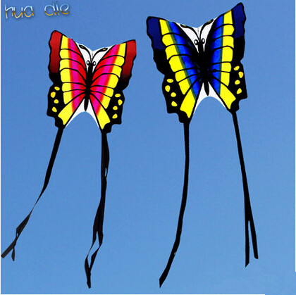 Free shipping Outdoor Fun Sports New Butterfly Kite With Handle And Line Good Flying For Gift
