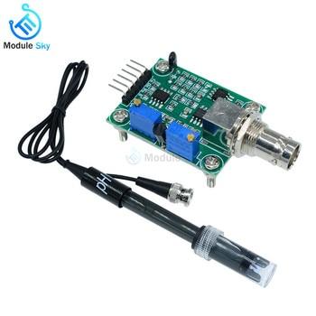 1 zestaw ciecz 0-14 wartość PH moduł czujnika wykrywania monitorowanie PH kontroler + BNC blok elektroda PH sonda dla arduino DIY Kit