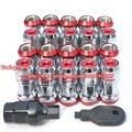 Hot Sale Red Color 20pcs Volk Racing Wheel Nuts Lug Nut M12XP1.5 Wheel Bolts (red caps) Auto Wheel Locking Nut