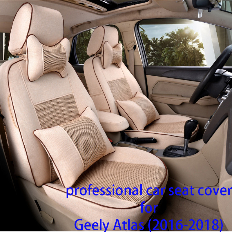 Legua Car Seat Cover Set for Geely Atlas (2016-2018)Water-proof Car Seat Protector Interior Accessories Soft Mat Car Style Seat dewtreetali universal automoblies seat cover four seaons car seat protector full set car accessories car styling for vw bmw audi