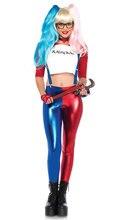 Sexy harley quinn traje de superhéroe rojo araña mujer jumpsiuts de rol disfraces para mujeres fancy dress del partido de cosplay traje