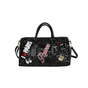 Image 5 - Fashion Travel Bag Sequins Overnight Bag Portable Duffle Bags Large Capacity Quitte Bags for Women Men Big Weekend Tote Pink