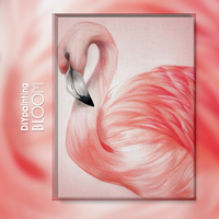 Flamingos Diy Oil Painting By Numbers Nordic Style Paint Pink Canvas Decor Painting Coloring By Number Drawing Home Decoration