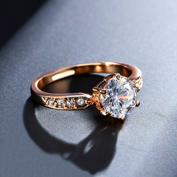 1.75ct AAA Zircon Engagement Rings for women Rose gold color Austrian Crystals Jewelry 2