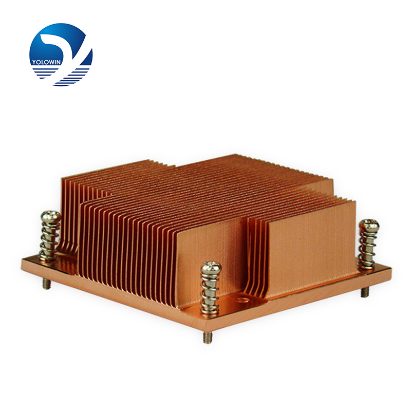 1 Pc Professional Heatsink Computer 1U Passive Solution Pure Copper Form-relieved Tooth Screw Function CPU Slots Radiator C2-01 1u server computer copper radiator cooler cooling heatsink for intel lga 2011 active cooling