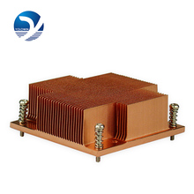 1 Pc Professional Heatsink Computer 1U Passive Solution Pure Copper Form-relieved Tooth Screw Function CPU Slots Radiator C2-01