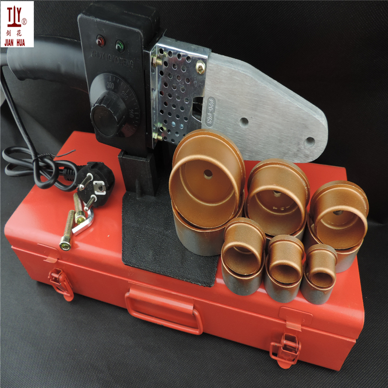 Free Shipping Plumber Tool Temperature Controled Welding Machine For Plastic Pipes Tube, AC 110/220V 20-63mm PPR Soldering iron free shipping plumber tool with 42mm cutter 220v 800wplastic water pipe welder heating ppr welding machine for plastic pipes