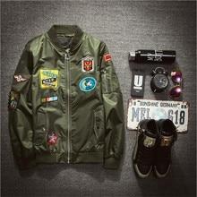 Mode Herren Bomberjacke Air Force Pilot Jacke Herren Weiß Stickerei Jacke Z1340