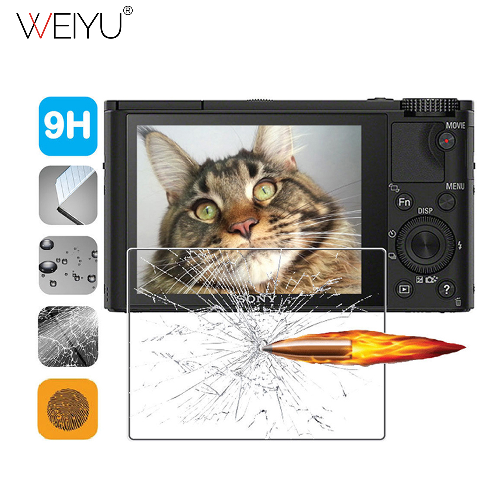 WEIYU Tempered Glass Screen Protector For Sony RX100/A7M2/A7R/A7R2/A6000 Camera LCD Screen Clear Protective Film