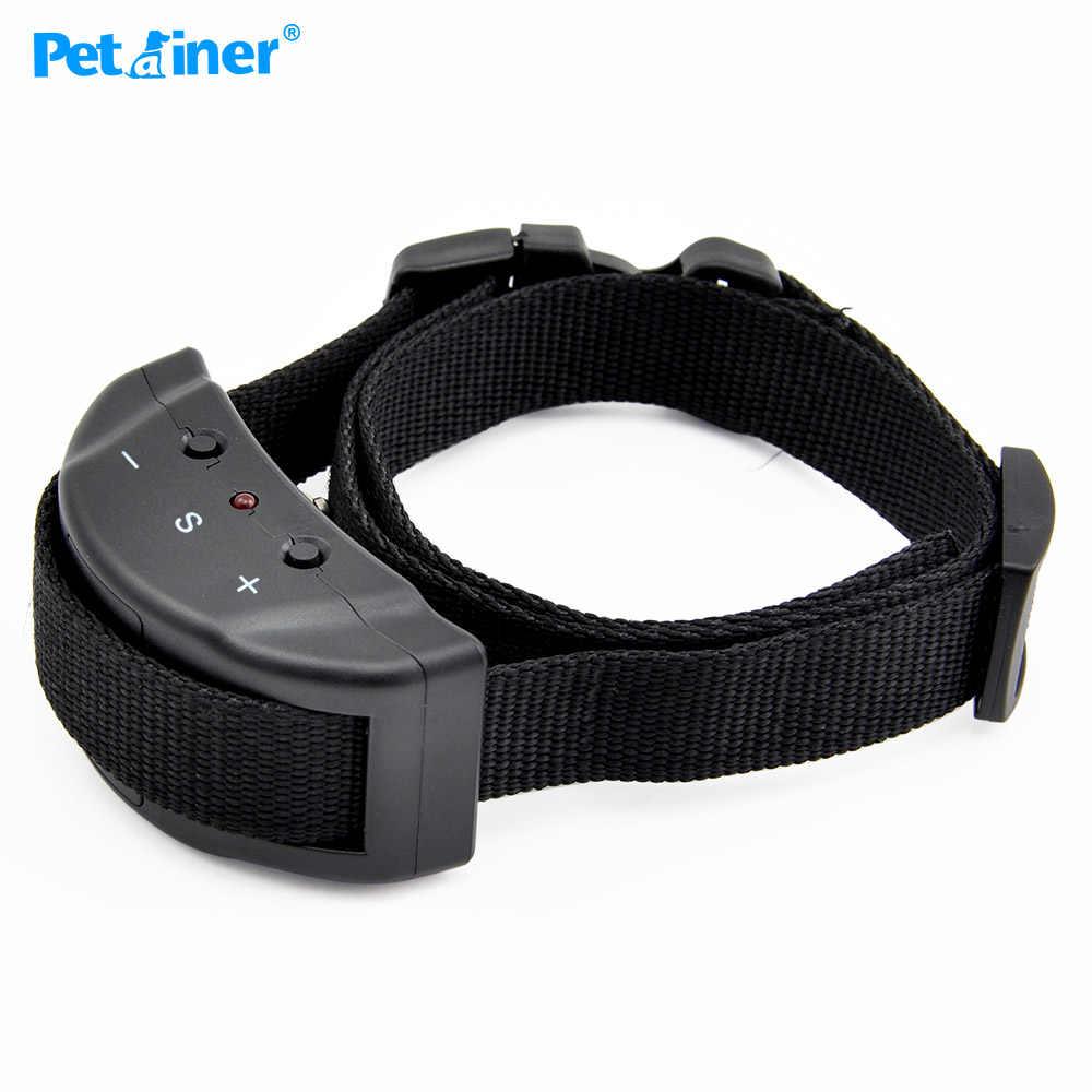 Petrainer 853 ошейник для дрессировки собак Анти лай Электрический шок для домашних животных автоматический Регулируемый тренировочный ошейник