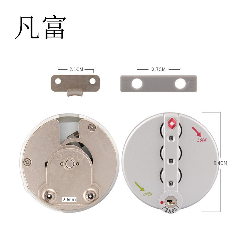 TAS 3 Digit Combination travel lock factory  outlet password custom code Lock number combination  Suitcase  Padlock  Code Lock(China)