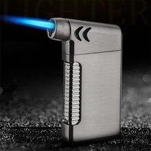 Mini Square shape Grip Butane Jet Torch Windproof Lighter Random Color metal Fire Ignition Burner NO GAS Cigarette Accessories