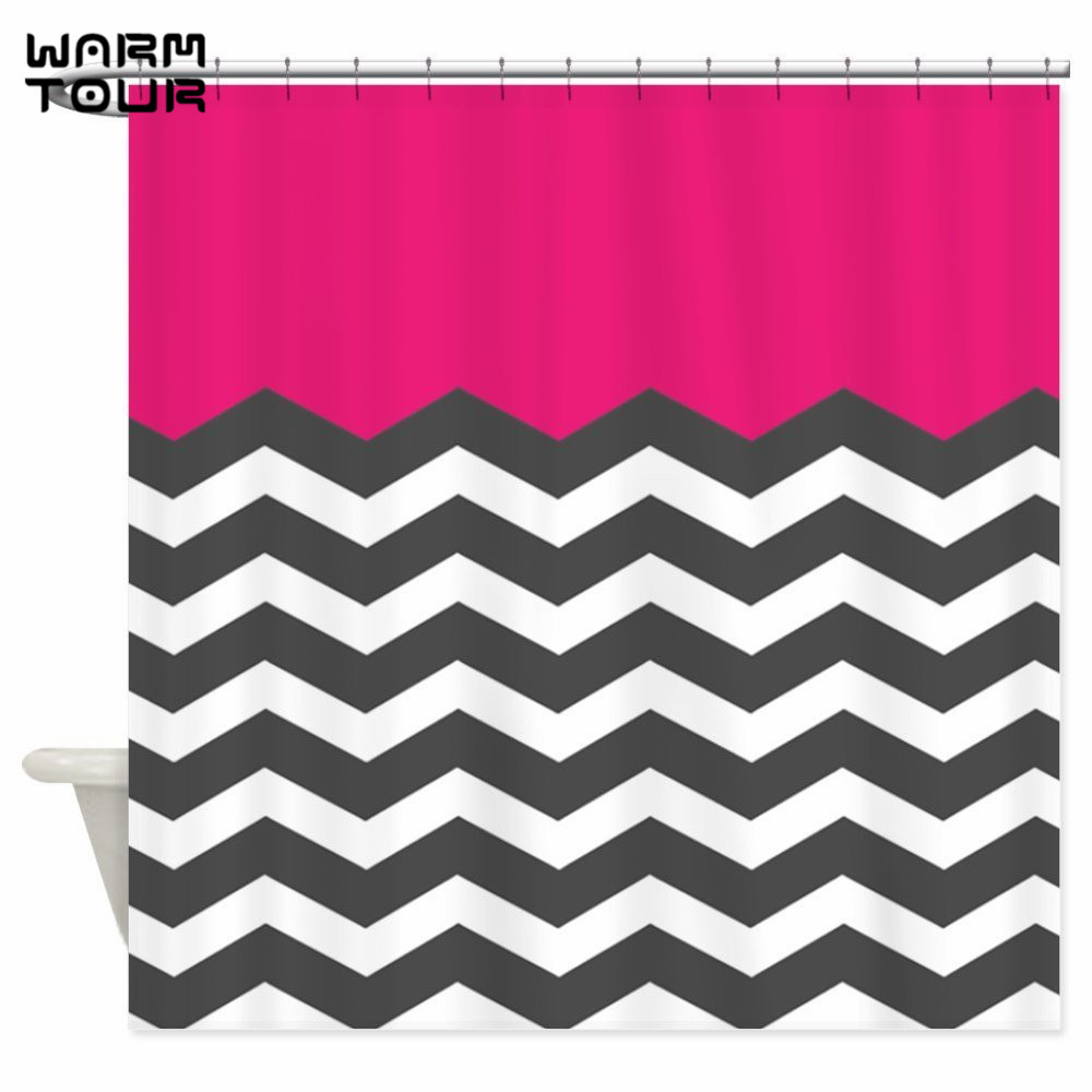 Hot pink curtains - Chevron Pink Curtains