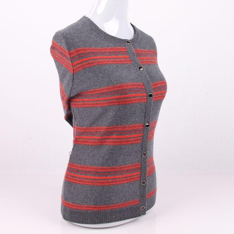Femmes Chandail 100 Oneck Cachemire Grande En S 5xl De Rayé Épais Taille Tricot Cardigan Mode Manteau OPwwqW5YB